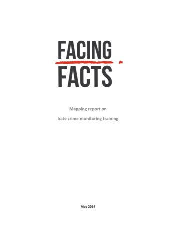 Mapping Report 2014 on Hate Crime Monitoring Training in